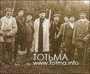 Инспектор лесоустройства А. Н. Царевский (в центре) на ревизии